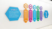 创意简约企业文化墙背景
