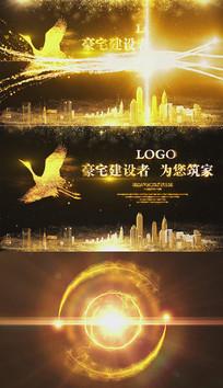 大气金色凤凰城市宣传ae片头视频模板