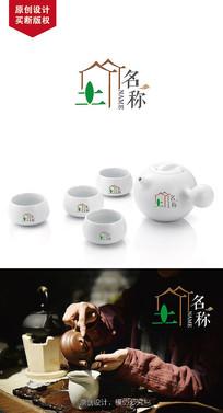 简约风茶业LOGO设计