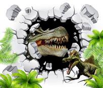 立体恐龙背景墙