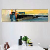 色块抽象油画艺术壁画