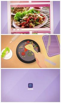 食品外卖视频展示ae模板