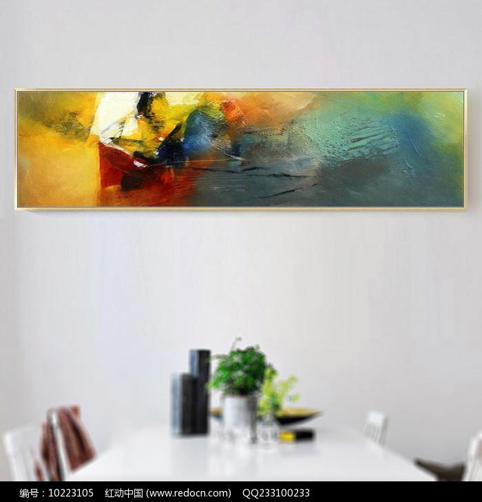 卧室抽象油画图片