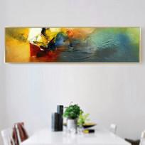 卧室抽象油画