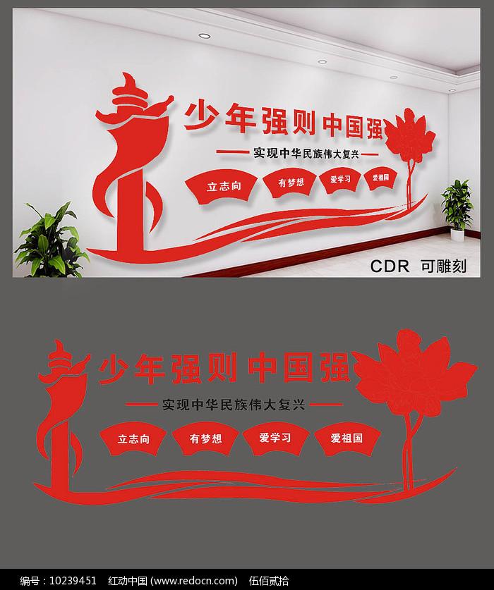 少年强则中国强文化墙图片