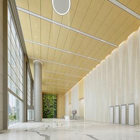 办公楼首层大堂室内设计效果图