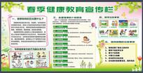 春季健康教育宣传栏