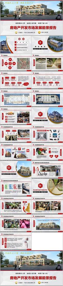 房地产开发前景报告PPT模板