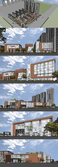 商業中心建筑模型