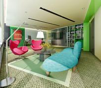 小清新元素私人办公室3D