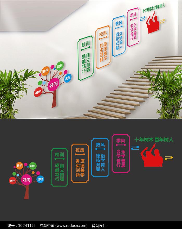 校训校风楼梯文化墙