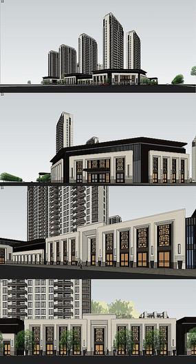新欧式古典住宅建筑模型
