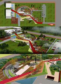 艺术公社景观设计全模