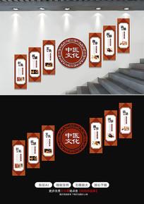 中医楼梯文化墙