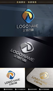 AD字母标志DA标志设计