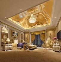 超奢华皇家室内卧室3D