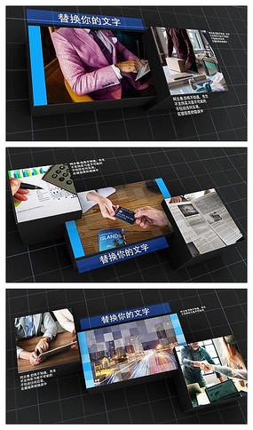 大气黑格背景企业宣传片视频模板