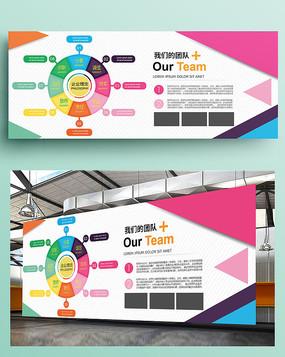 大气企业公司文化墙展板
