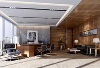 高级家装室内书房3D模型