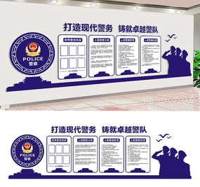 公安局文化墙展板设计