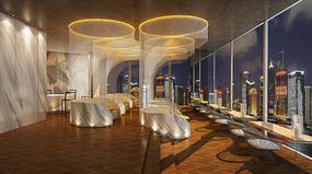 观光餐厅室内设计效果图