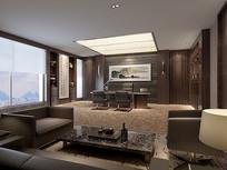古典大气室内书房3D模型