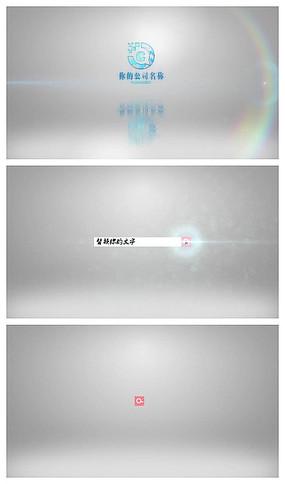 简洁搜索出logo创意视频模板