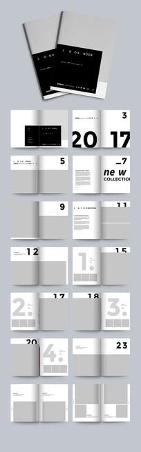 简约通用杂志画册设计模板