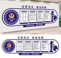 警察局文化墙展板设计