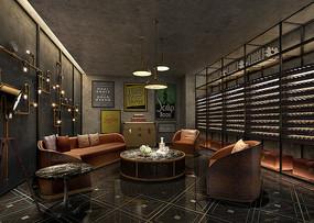 酒店休闲吧室内设计效果图