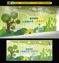 卡通亲子活动室文化墙设计