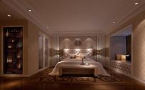 欧式卧室灯光3D模型