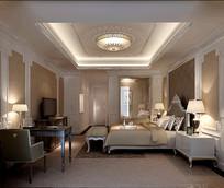欧式现代家装卧室3D模型