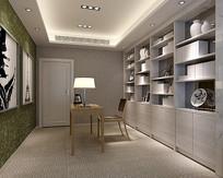朴素室内书房3D模型