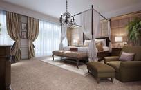 轻奢风室内卧室3D模型