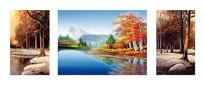 秋季风景抽象油画客厅装饰画