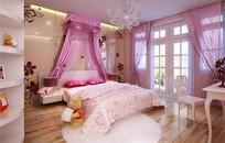 少女元素家装卧室3D模型
