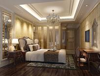 奢华欧式室内卧室3D