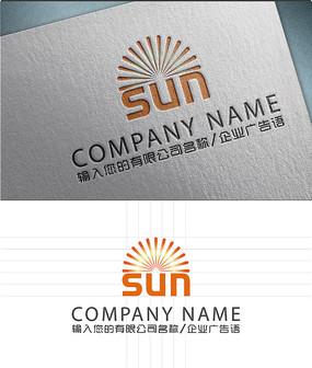太阳sun字母LOGO标志