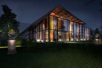 现代玻璃房建筑3D模型