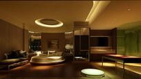 现代高级室内卧室3D模型