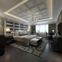 现代简约风室内卧室3D模型