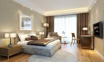 现代简约家装卧室3D模型