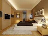 现代简约室内卧室3D