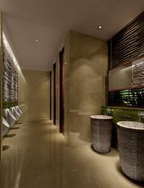 现代简约室内洗手间3D