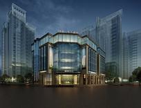 现代接待中心建筑3D模型