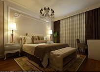 现代欧式室内卧室3D模型