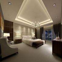 现代元素室内卧室3D