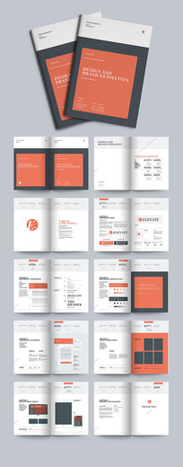 原创简约通用宣传画册设计模板