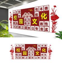 中式弟子规古典文化校园文化墙